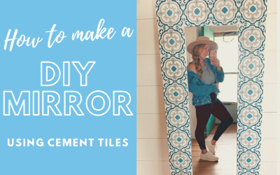 How to Make a DIY Cement Tile Mirror